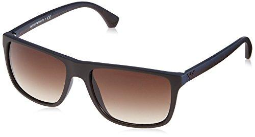 Emporio Armani Armani Unisex Sonnenbrille EA4004, Gr. Large (Herstellergröße: 56), Mehrfarbig (brown 504613)