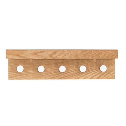Estante de pared decorativo Percha de madera maciza de alto ...