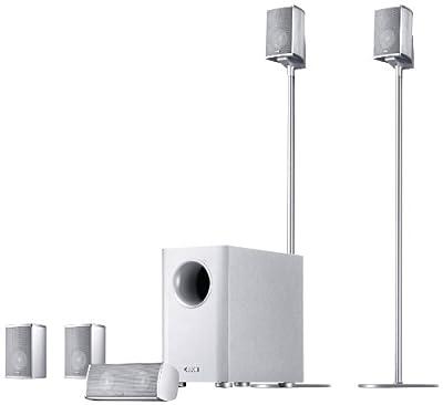 Canton Movie 1005 - Impianto cinema con subwoofer composto da 2 satellitari 100 Watt, 2 center 100 Watt, 2 impianti audio surround 100 Watt, subwoofer 120 Watt, colore: Bianco