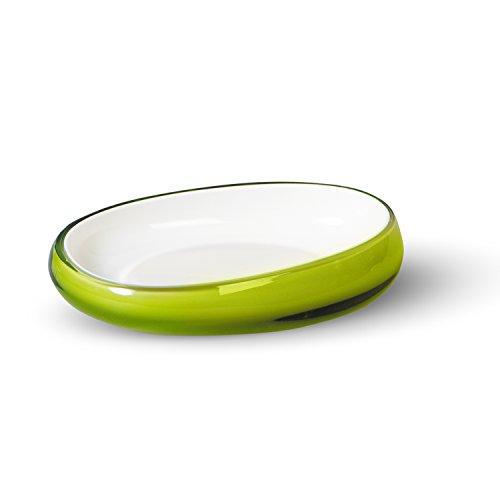 Tat Kraft Repose verde con varias capas de acrílico plato de jabón