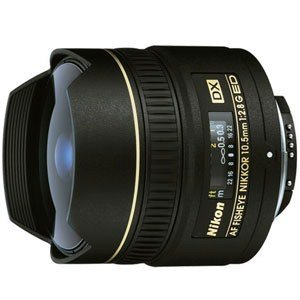 Nikon AF DX Nikkor 10.5mm F/2.8G ED Fisheye Wide Angle Prime Lens for Nikon DSLR Camera