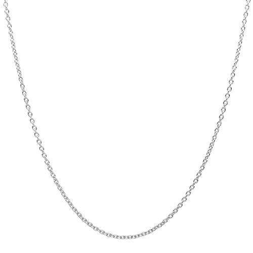 18 Karat / 750 Gold Rund Ankerkette Weißgold Kette - Breite 1 mm - Länge Wählbar (60)