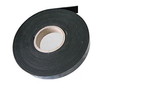 ca. 9,6 Meter x 15 x 1 mm, Vollgummi Gummistreifen Gummiprofil EPDM Hartgummi selbstklebend, schwarz - Industrieware