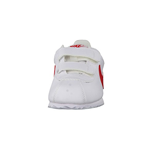 Nike White / University Red, Chaussures de Football Mixte Bébé Blanc Cassé - blanc