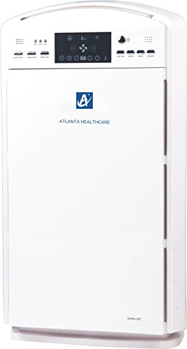Atlanta Healthcare gama 501 7-stage purification 500 sq. Ft., 365m3/hr. Air Flow Air Purifier With Remote Control,  air Quality Sensor(white)