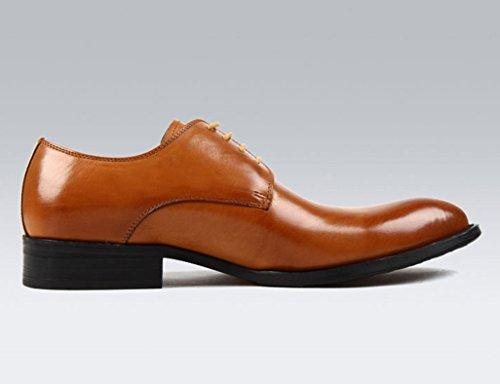 Scarpe Uomo in Pelle Scarpe da uomo in pelle stile inglese con puntini da lavoro traspiranti e formali ( Colore : Nero , dimensioni : EU42/UK7.5 ) Brown Yellow