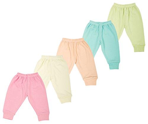 Kuchipoo Kids Pyjama Set- Pack of 5 (Multi-Coloured, 0-3 Months)