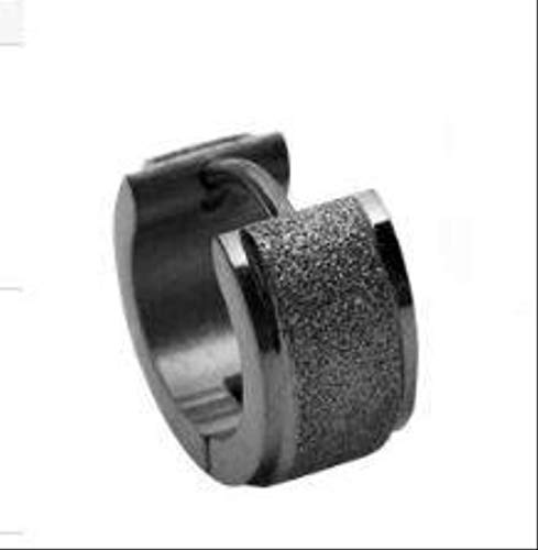 MCKKRSX Earrings Fashion Men's Black Wide Ear Buckle Titanium Steel Matte Earrings Men's Earrings Earrings Jewelry Single Price 6Mm Picture Color (Single)