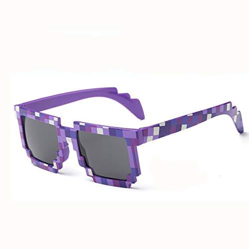 JYYC Square Sonnenbrille Männer Party Brille Mann Hipster Steampunk Mosaik übergroßen einzigartigen Mode Geek unregelmäßig