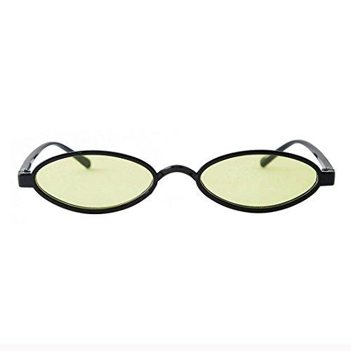 Dragon868 Frauen Mode Unisex Oval Shades Sonnenbrille Integrierte UV-Brille Women Sunglasses Sonnen-Überbrille UV400 Schutz (E)