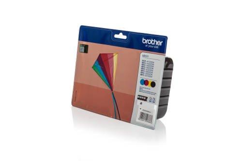 Preisvergleich Produktbild Original Tinte passend für Brother MFC-J 5320 DW Brother LC223VALBPDR,LC-223 VAL BPDR LC-223 VAL BPDR - 4x Premium Drucker-Patrone - Schwarz, Cyan, Magenta, Gelb - 550 Seiten