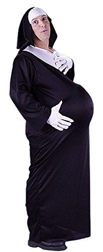 Schwangere Nonne Kostüm M/L ()