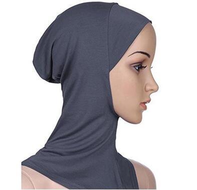 W.Air Yuhemii Frauen islamischen Full Cover mit Hijab Mützen Islamische underscarf Hals-Motorhaube, grau, Einheitsgröße
