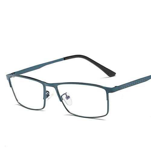 Yajiemei Klassische quadratische Mode-Brille der klassischen blauen Lichtbrillenmänner der Männer für Frauencomputergläser (Color : Blue)