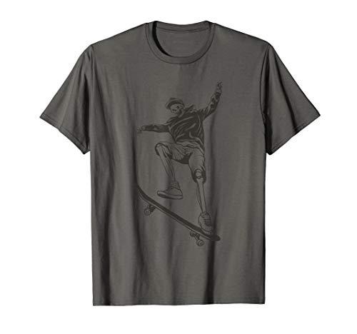 Skateboarding Ollie Hubba Ledge Skater Skate Skelett T-Shirt