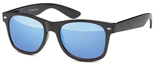 MOKIES Unisex Sonnenbrillen - UV400 Filterkategorie 3 CE Kennzeichnung - Wayfarer Design - Polycarbonat - mit Federscharnier - 102 Blau