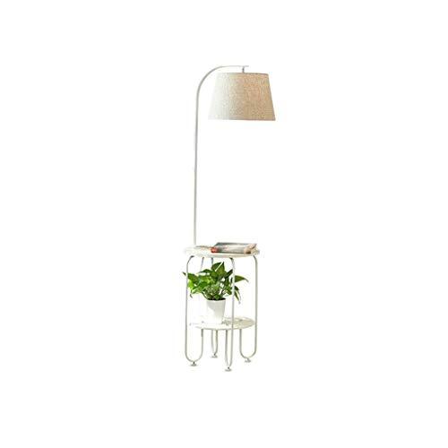 Lámpara de pie del paño de la Moda, lámpara Minimalista Moderna Moderna del Dormitorio de la Sala de Estar del Estudio, lámpara de pie casera de la decoración (Color : Blanco)