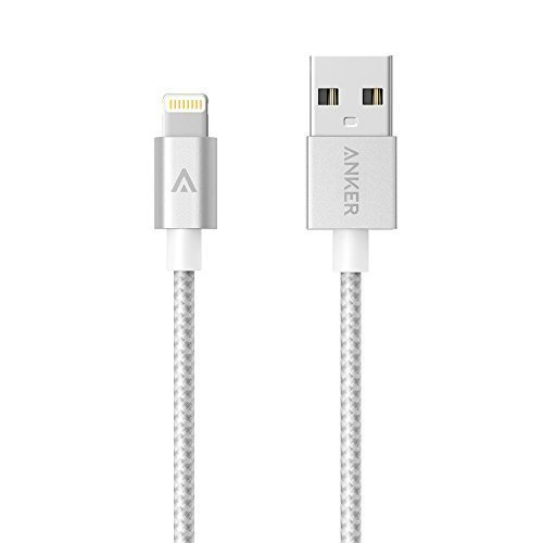 Anker Lightning Kabel 0.9m Nylon USB Ladekabel [Apple MFi Zertifiziert] für iPhone SE 5s 5c 5 6s / 6 / 6 Plus / 6s Plus, iPad Pro / Air 2 und weitere (Silber) (Iphone 4 Lifeproof Case Rot)