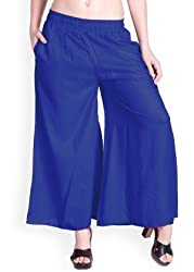 Lux Lyra Womens Palazzo (Lyra_Palazoo_Royal Blue_1PC_Large)