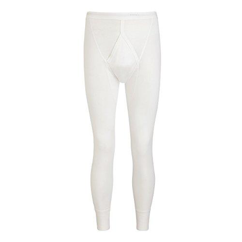 Jockey 2200 Luxury Lange Unterhose mit Eingriff Cotton Long Y-Front 22000411 100% Baumwolle Weiß (01)