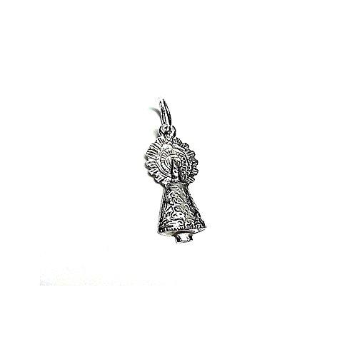 Colgante plata ley 925m 25mm. Virgen Pilar pequeño [AA8213]