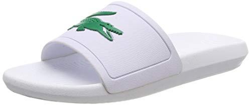 Lacoste croco slide 119 1 cma, sandali a punta aperta uomo, bianco (wht/grn 082), 43 eu
