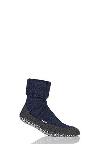Herren 1 Paar Falke Cosyshoe Schurwolle Startseite Socken Navy 43-44