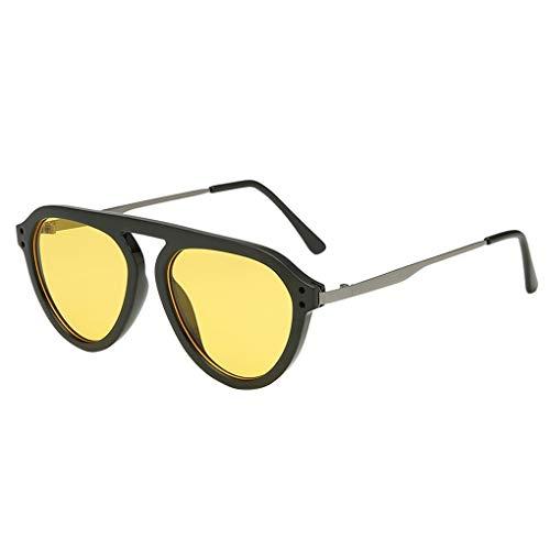 Preisvergleich Produktbild Unisex Retro Sonnenbrille Polarisiert / Dorical Damen Herren Groß Metallrahmen Runde Brille Retro Gestellbrille Schatten Mode Brillen 100% UV Schutz