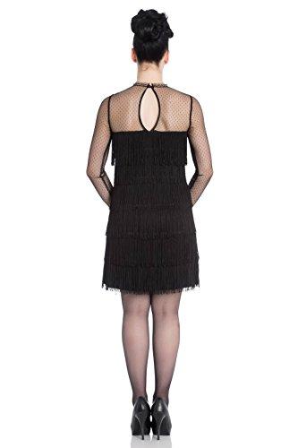 Hell Bunny -  Vestito  - Basic - Maniche lunghe  - Donna Black