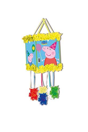 ALMACENESADAN 0838, Piñata Viñeta Peppa Pig,, Fiestas y cumpleaños, Dimensiones: 20x20x30 cms