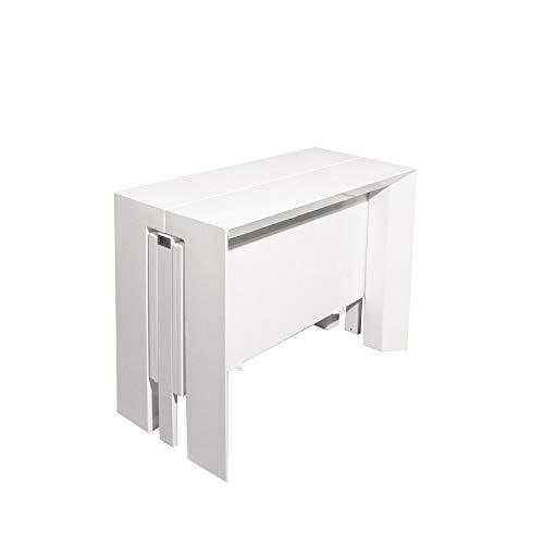 Tavolo Bianco Laccato Lucido Allungabile.R R Design Tavolo Consolle Allungabile Laccato Bianco Lucido 2 3