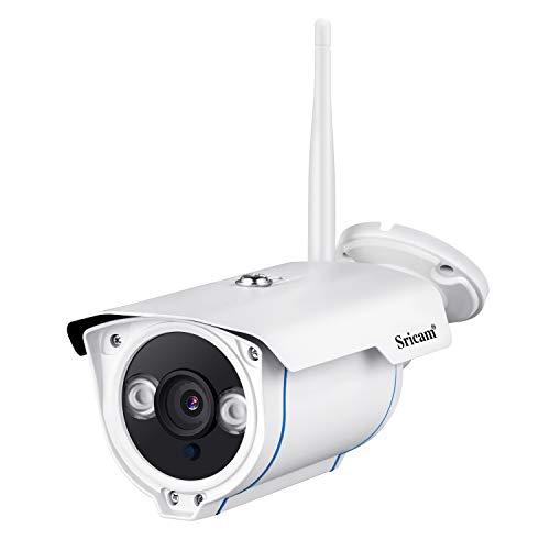 Sricam SP007 Überwachungskamera, 1080P 2.0MP drahtlose IP-Außenkamera, 15M Nachtsicht H.264 WiFi Nachtsicht-Bewegungserkennung - Handy/PC-Überwachung - IP66 wasserdicht