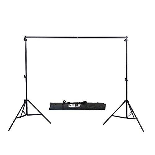 Phot-R 3x3m Studio-Hintergrundsystem mit Targetasche, 2x 3m Hintergrundständer und 3m tragbares, verstellbares Fotografieset für...