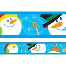10, 5 Meter x Smiley Schneemann Winter Weihnachten Display, Bordüren und Dekorationen (Weihnachts-display Schneemann)