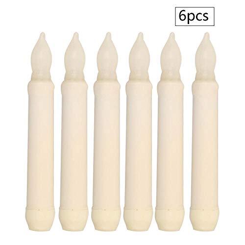 Kerzenlichter, LED-Streifen Kerze gewachst zylindrische Kerze plattiert Wachs lange Stange elektronische Kerze Hochzeit Kirche Dekoration Kerze 6St (Elektronische Kerzen Kirche)