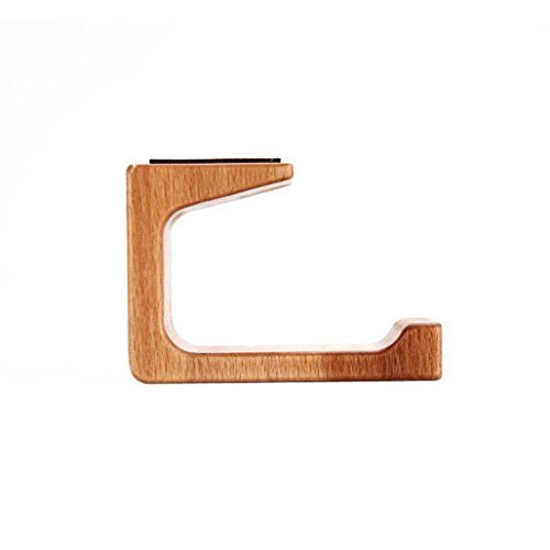 pomcat Holz Dual Halterung Kopfhörer Ständer Klebehaken unter Desk Hanger Home Office (A) (Kopfhörer-haken-ständer)