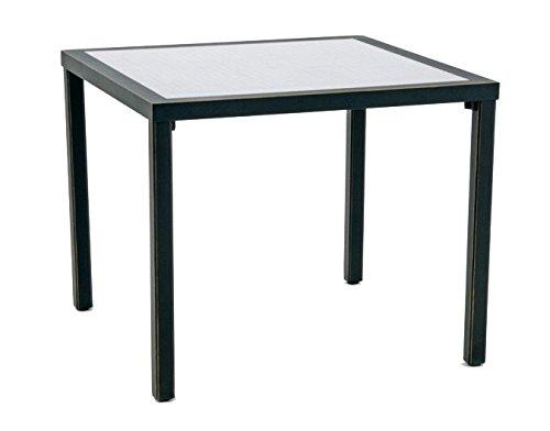 GarVida Gartentisch Oronero Esstisch Garten Terrasse Tisch Gartenmöbel schwarz