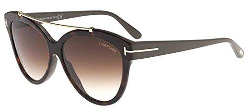 Tom Ford Unisex-Erwachsene FT0518 53F 58 Sonnenbrille, Braun (Avana Bionda/Marrone Grad),