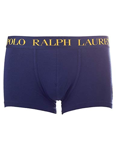 POLO RALPH LAUREN Herren Short, Pant, Solid Trunk - Navy/Gold: Größe: 4 (Gr. Small)