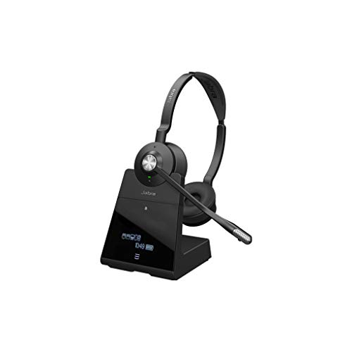 Jabra Engage 75 Stereo Wireless-Profi-Headset mit DECT/Bluetooth  für 5 Endgeräte, mit Ladeschale, Skype for Business Open Office zertifiziert Wireless-pc Stereo