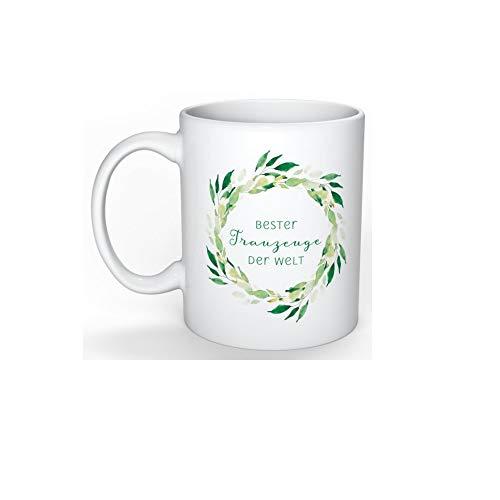 Great Stuff Tasse Bester Trauzeuge der Welt Boho Greenery Geschenk Idee Hochzeit Danke Dankeschön JGA BFF Best Friends Bester Freund Best Man Groomsmen (Boho Ideen Hochzeit)