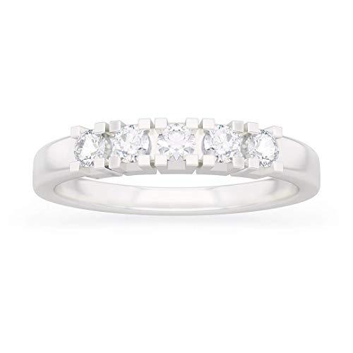 Anello donna silvia in oro bianco 18kt e palladio con diamanti