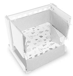 Bimbi Mini Cot Bimbi Casual baby bedroom. Cot bedroom. Natural mini bedspread 21