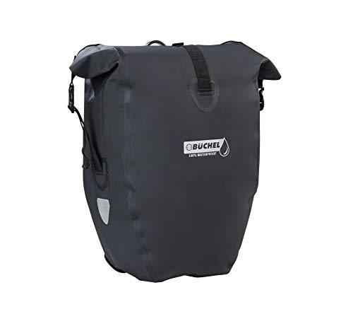 Büchel Fahrradtasche für Gepäckträger, 100% wasserdicht, schwarz, 81518001
