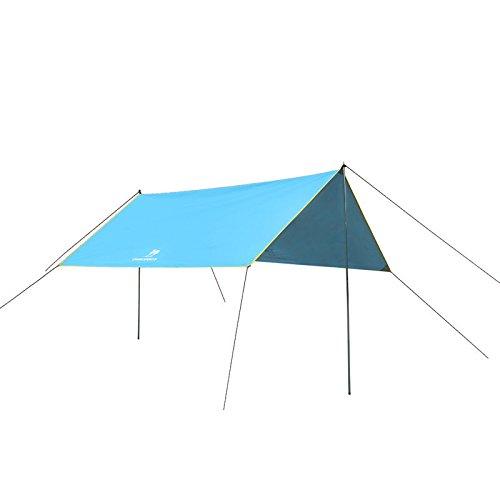 Outdoor-Markisen Zelte 1-6 Menschen Schatten Wasserdichte tragbare Gruppe von vier Jahreszeiten 300X292 Cm ( farbe : Blau )