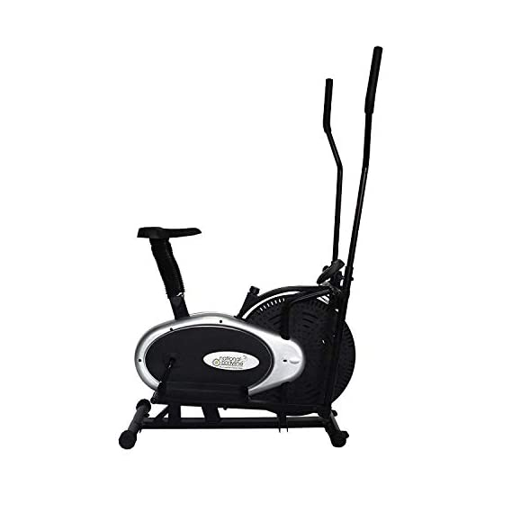LEEWAY National Bodyline Elliptical Machine Cross Trainer 2 in 1 Orbitrack Exercise Bike with Seat Dual Workout Cardio Fitness Home Gym Equipment