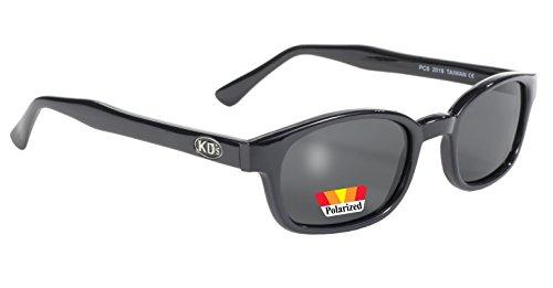 Pacific Coast Sunglasses Original Kd Radfahrer-Sonnenbrille mit polarisiertem Smoke Lenses One Size Black Frame/Dunkelgrau Objektiv
