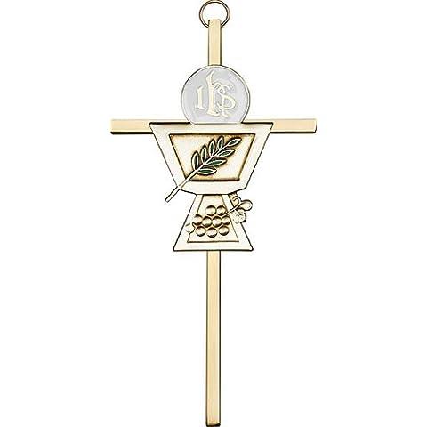 Icecarats Designer Di Gioielli Di 6 Pollici Oro Antico Comunione Calice In Ottone Attraversare 6 X 3 Pollici