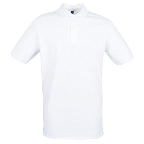 Henbury Herren Modern Poloshirt Weiß