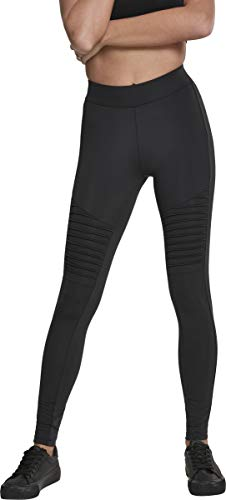 Urban Classics Damen Ladies Tech Biker Leggings, Schwarz (Black 00007), M